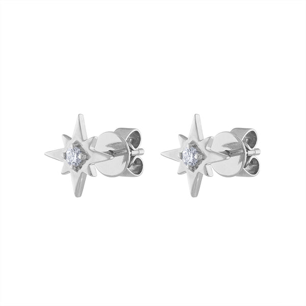 14KT GOLD DIAMOND STARBURST EARRING