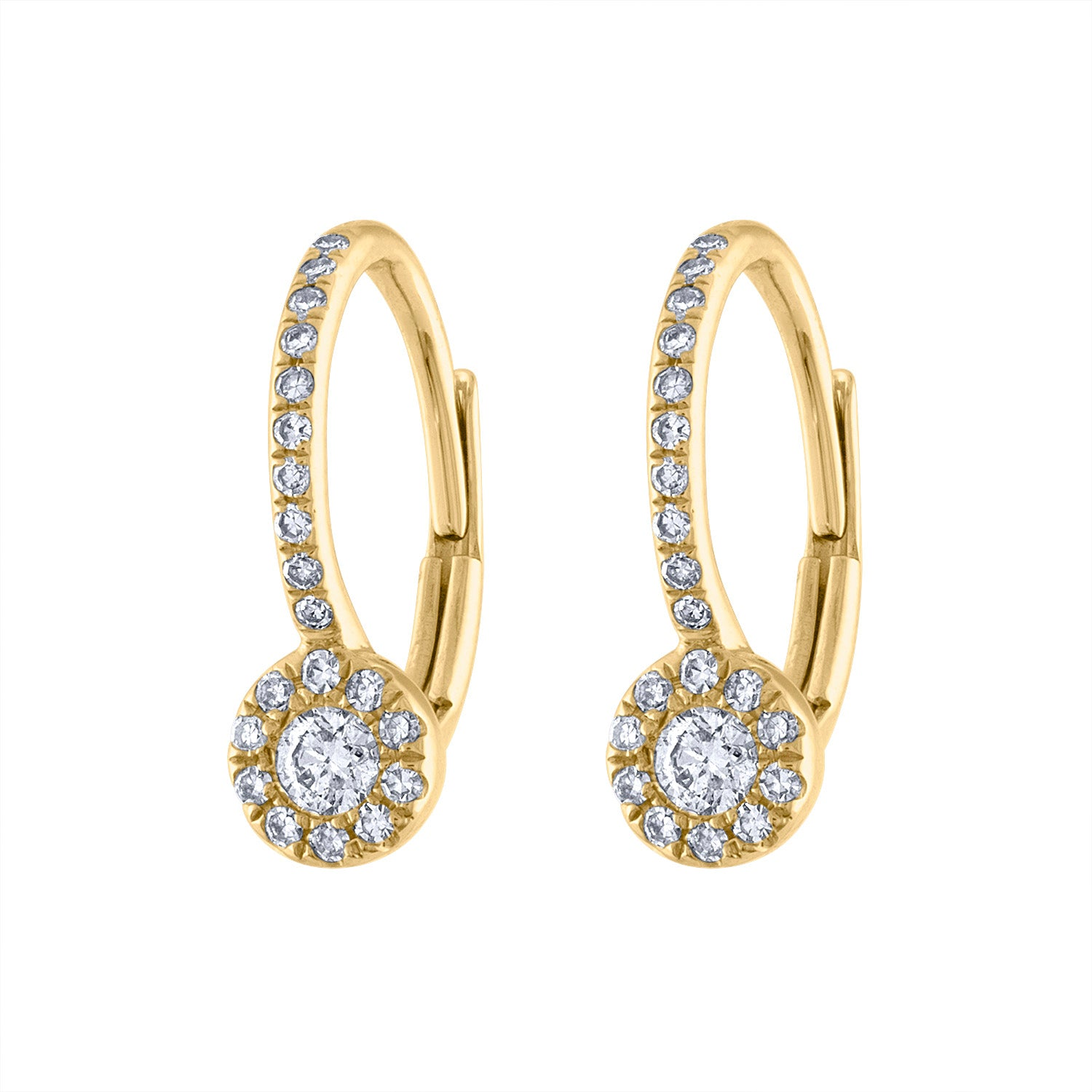 14KT GOLD DIAMOND MARTINI SET EARRING