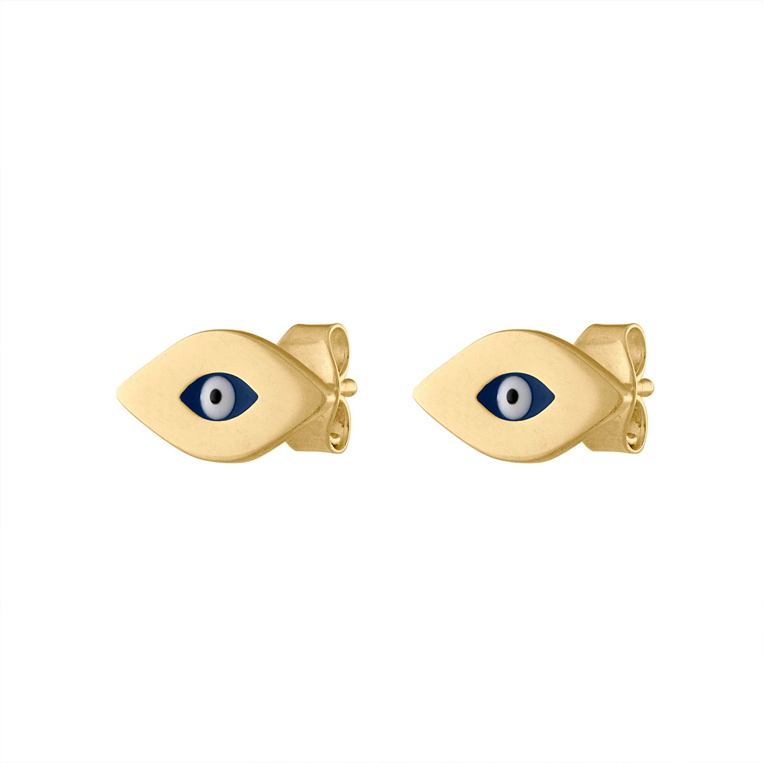 14KT GOLD EVIL EYE EARRING