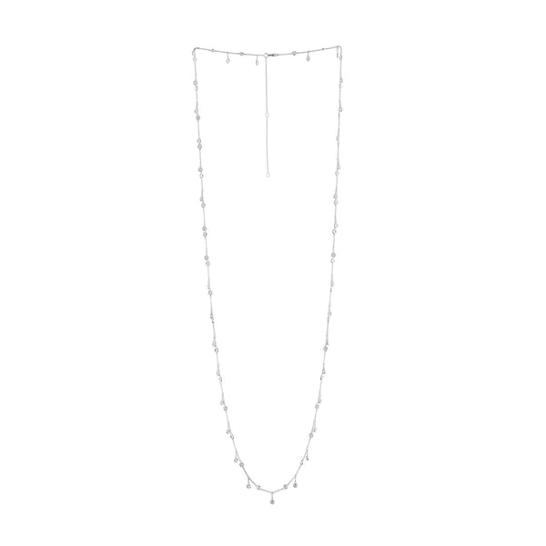 14KT GOLD BEZEL SET DIAMOND DANGLING NECKLACE