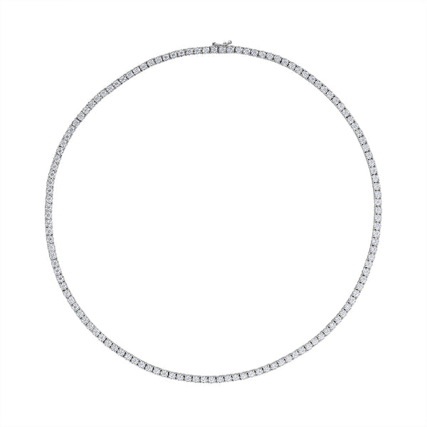 14KT WHITE GOLD DIAMOND TENNIS NECKLACE