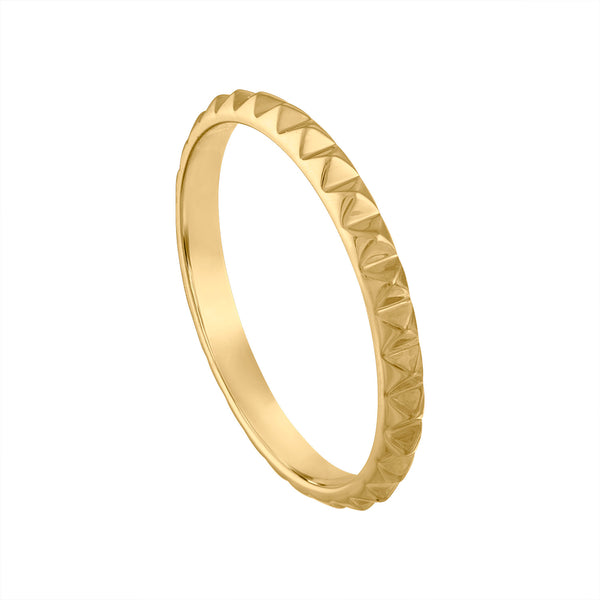 14KT GOLD PYRAMID RING GUARD