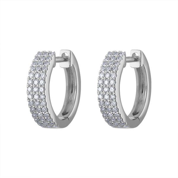 14KT GOLD DIAMOND HUGGIE EARRING