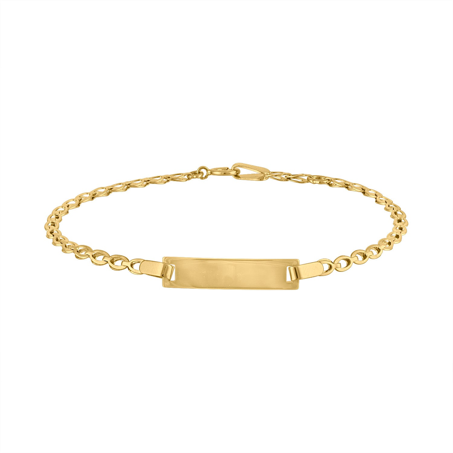 14KT GOLD ENGRAVABLE BAR BABY BRACELET