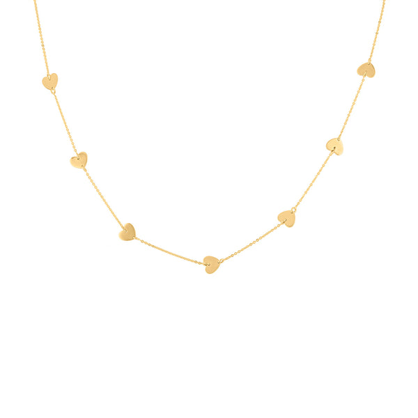 14KT GOLD HEART BY THE YARD NECKLACE