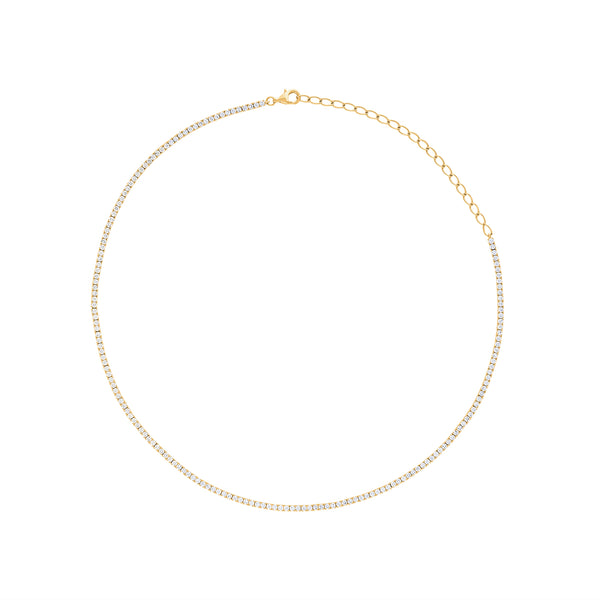 14KT GOLD DIAMOND TENNIS NECKLACE