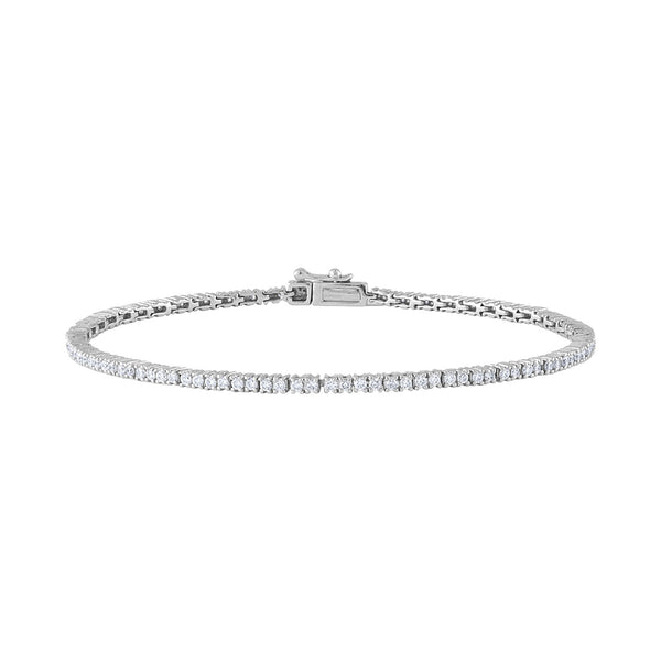 14KT GOLD DIAMOND THIN TENNIS BRACELET