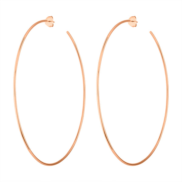 14KT GOLD 75MM HOOP POST EARRING