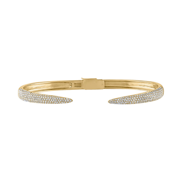 14KT GOLD DIAMOND CLAW BRACELET