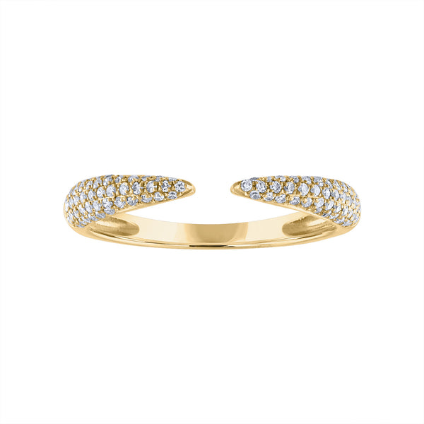 14KT GOLD DIAMOND CLAW RING