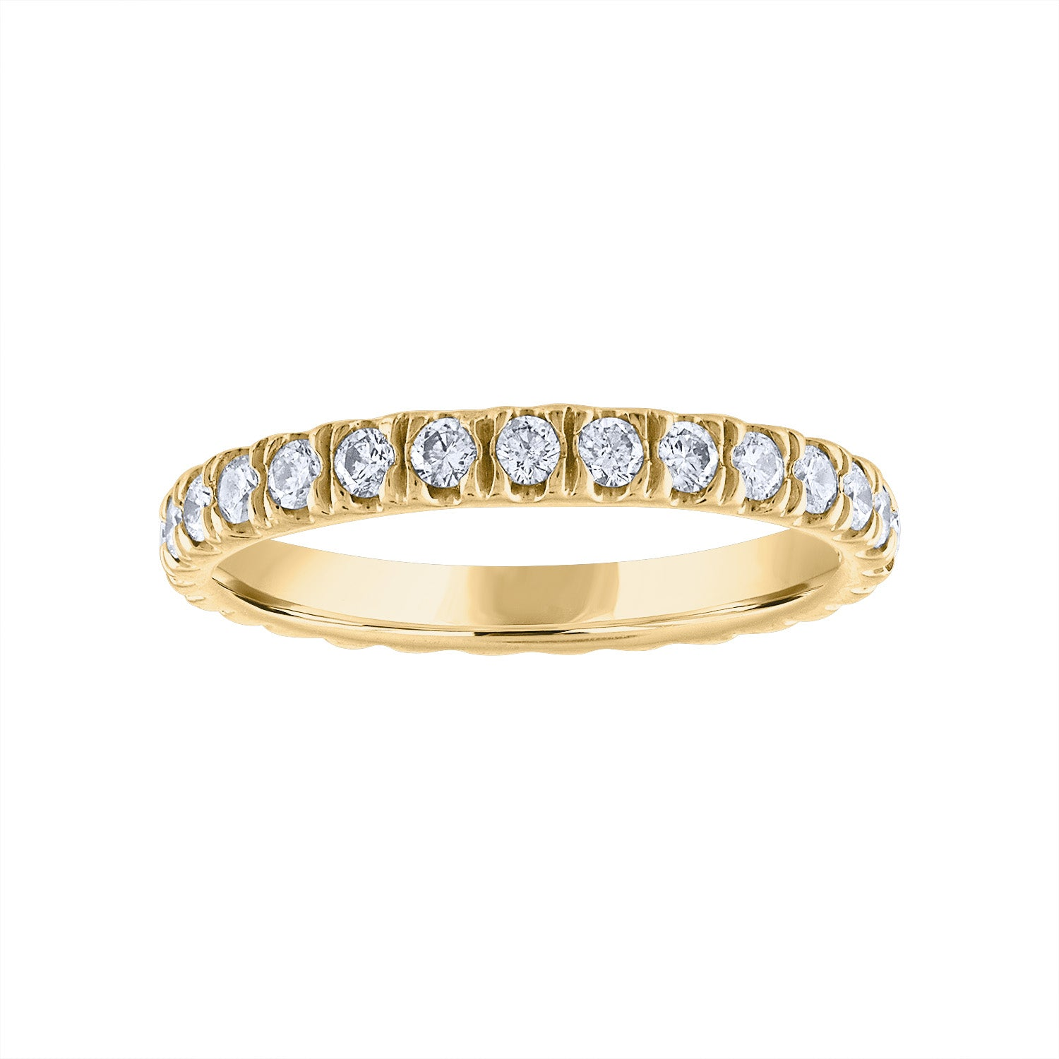 18KT GOLD DIAMOND LARGE RING GUARD