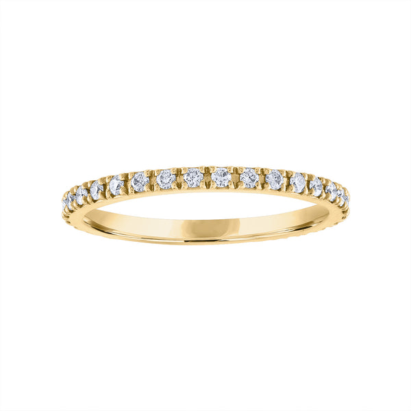 14KT GOLD DIAMOND MEDIUM RING GUARD
