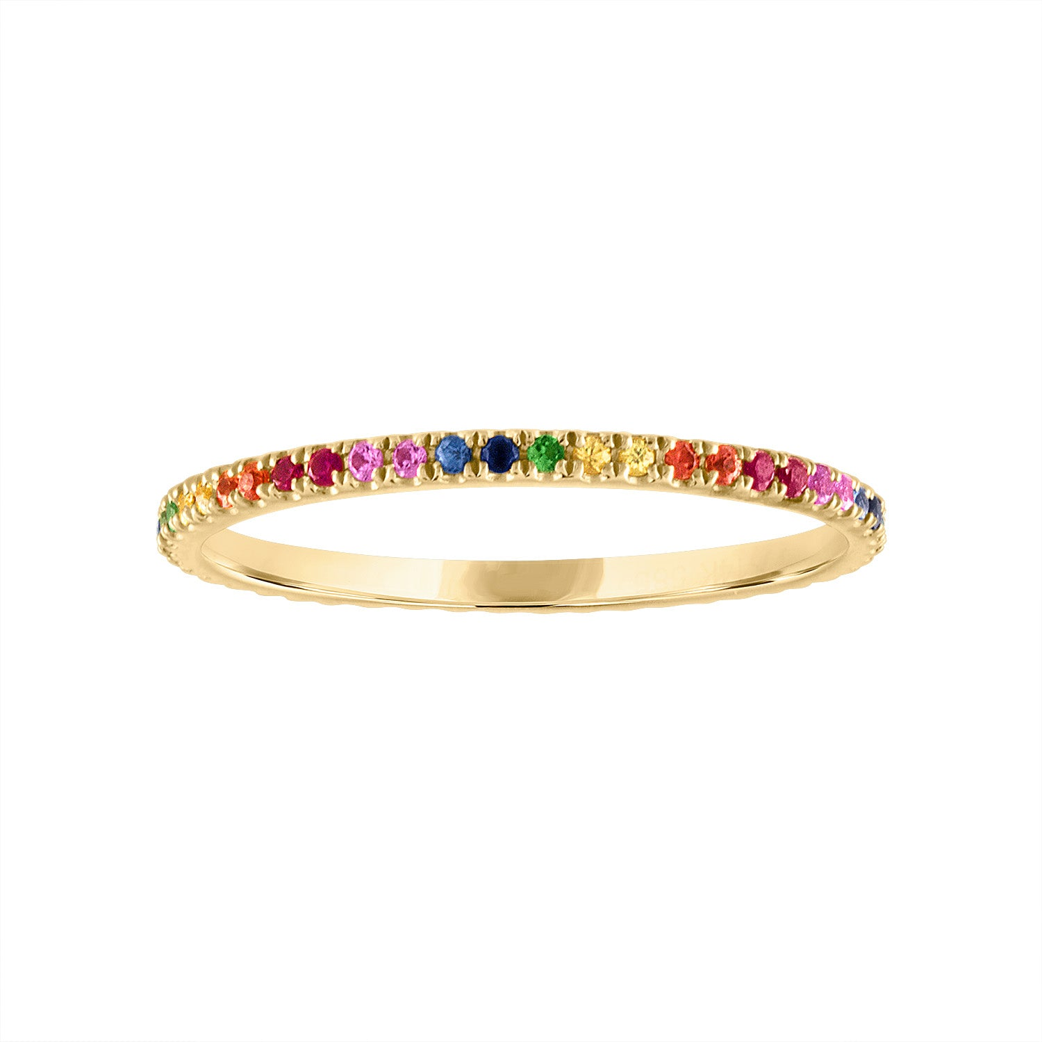 14KT MULTI-COLOR RING GUARD