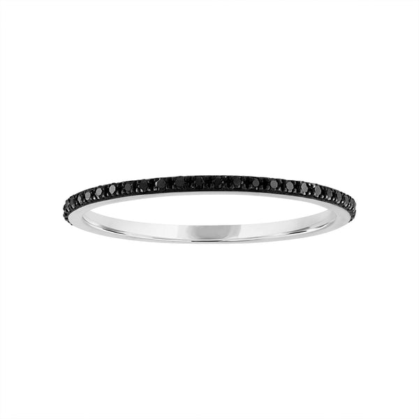 14KT GOLD BLACK DIAMOND RING GUARD