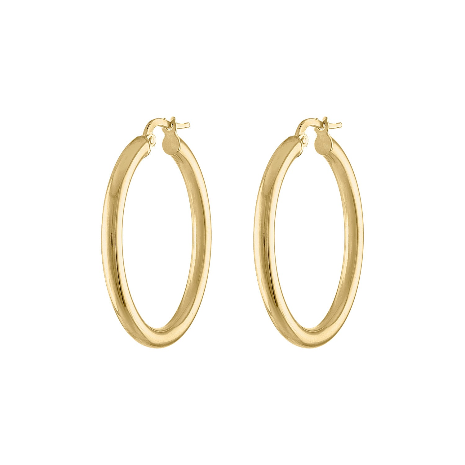 14KT GOLD MEDIUM HOOP EARRING