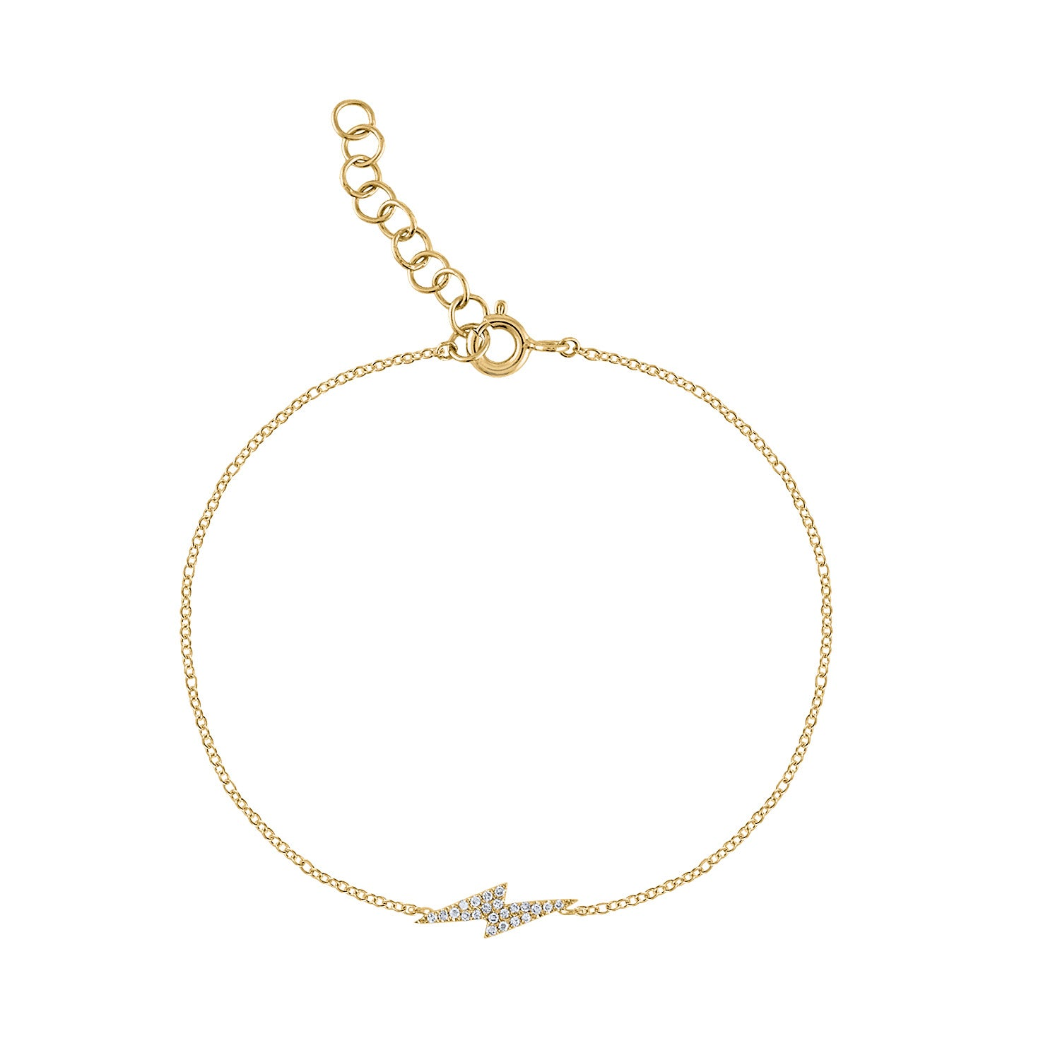 14KT GOLD DIAMOND LIGHTENING BOLT BRACELET