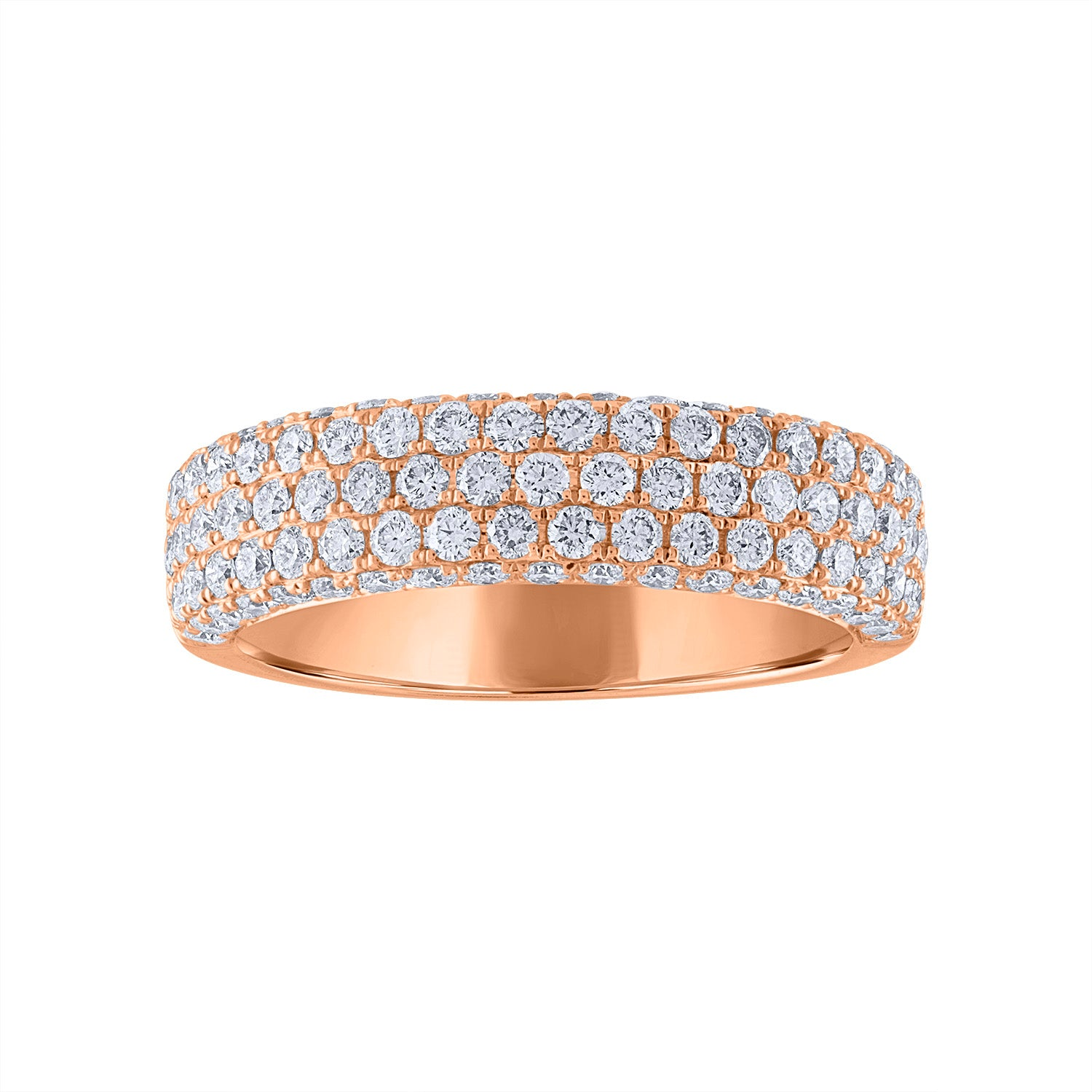 14KT GOLD PAVE DIAMOND THICK RING