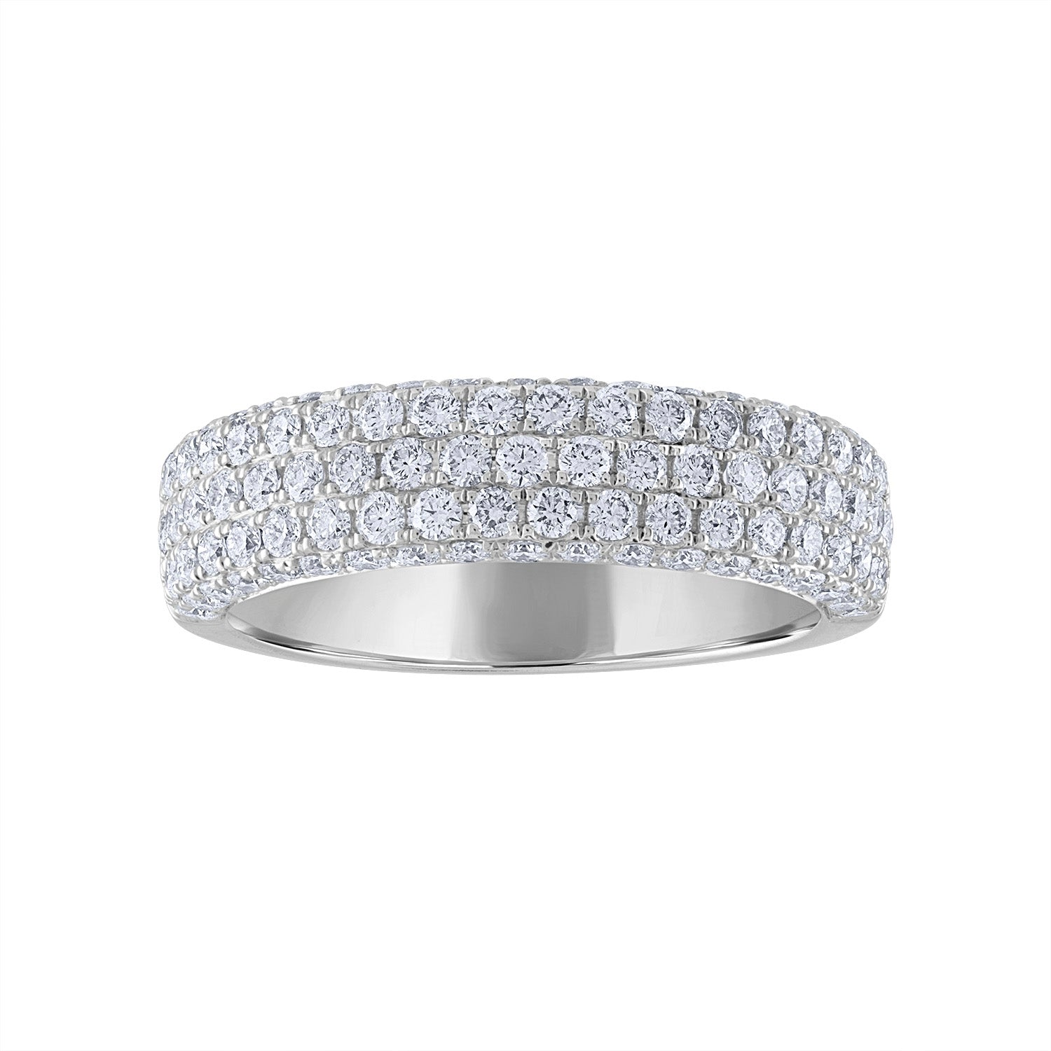 14KT GOLD PAVE DIAMOND WIDE RING