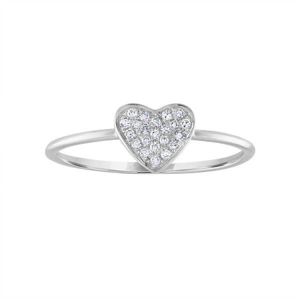 14KT GOLD DIAMOND PAVE HEART RING