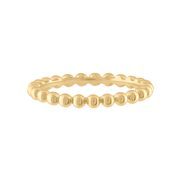 14KT GOLD SMALL BEAD RING