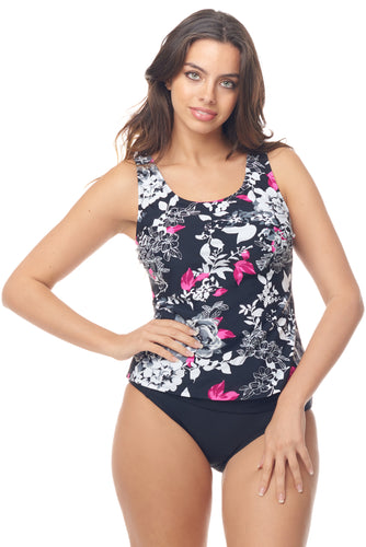 Pinky Flower Tankini Top