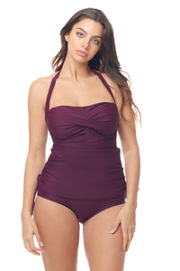 Burgundy Convertible Sheath Swimsuit