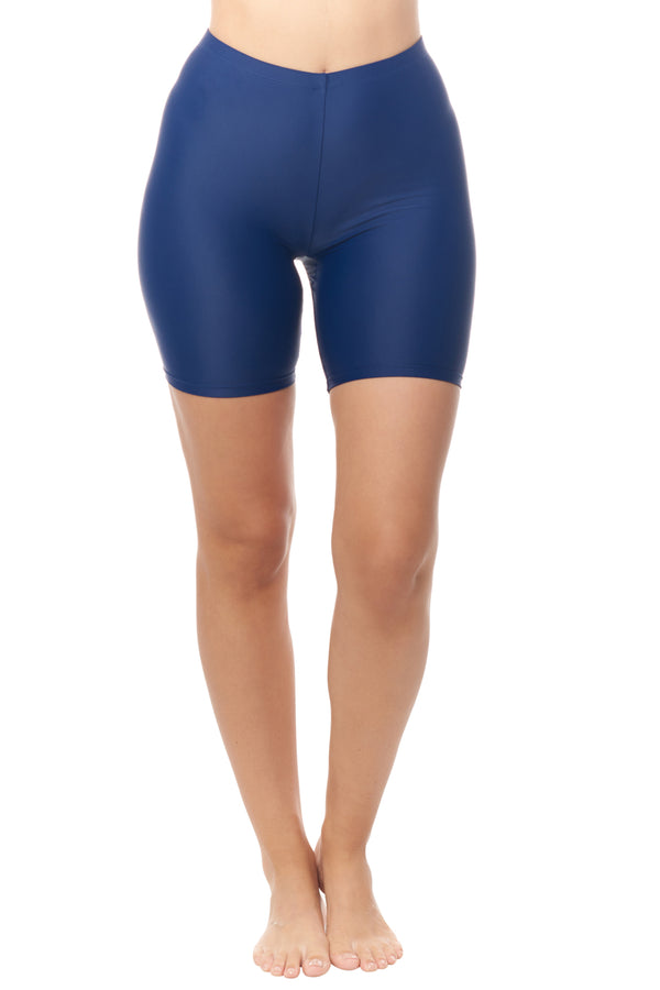 Navy Bike Short Swim Bottom