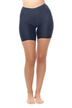 Black Bike Short Swim Bottom