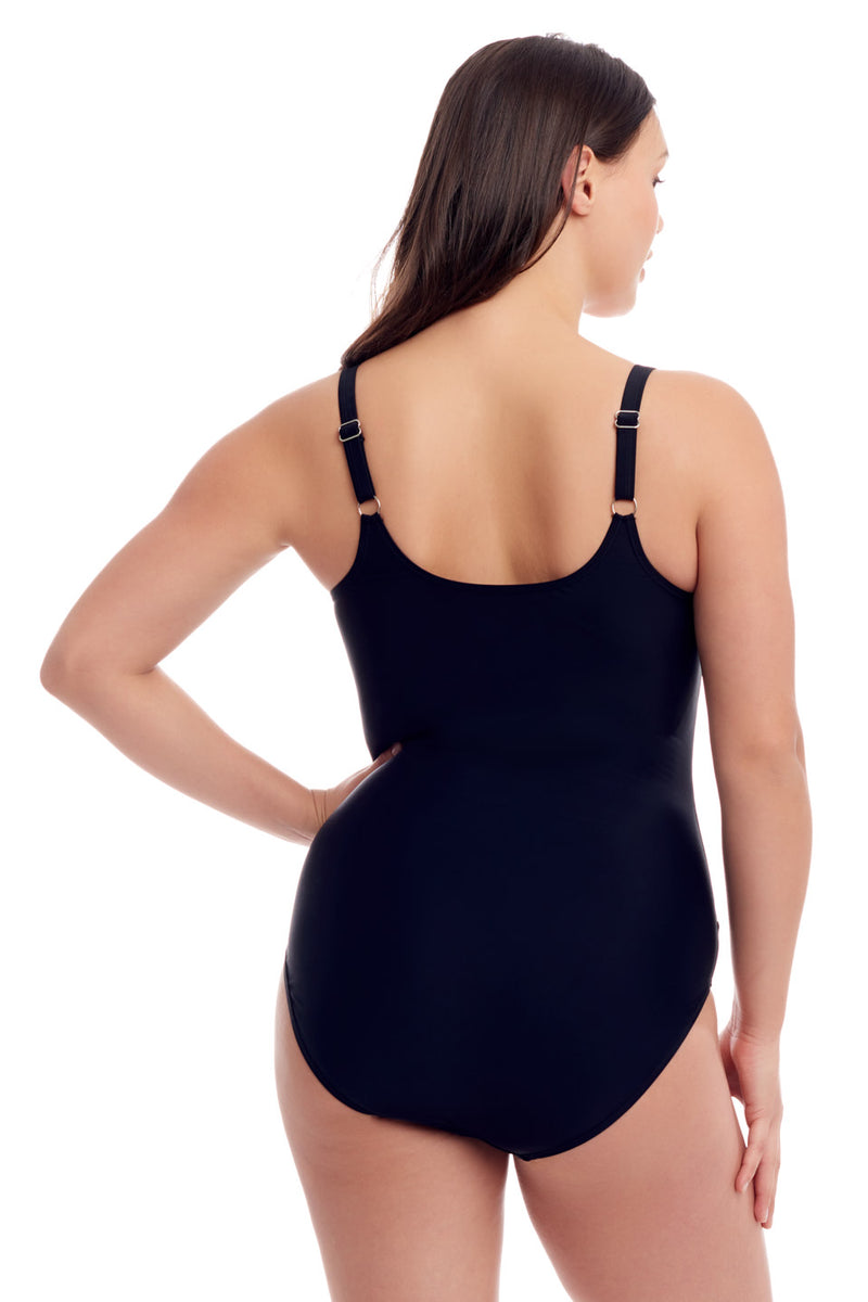 Black Zipper One Piece