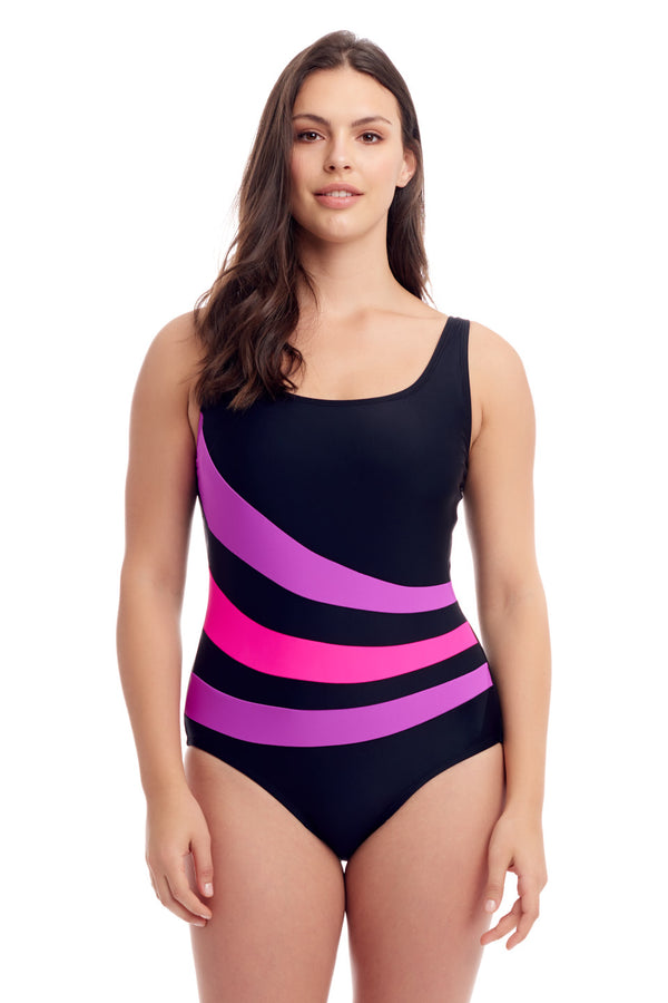 Pink Stripe Swimsuit