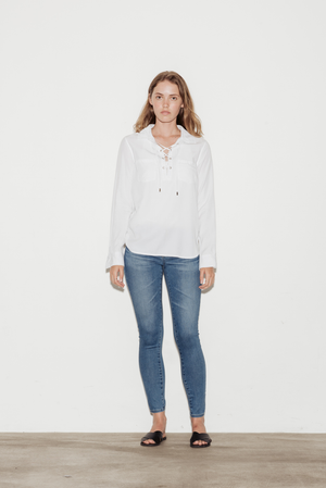 Billie Tencel Lace-Up Shirt