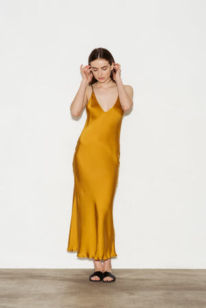 Bias Silk Slip Dress