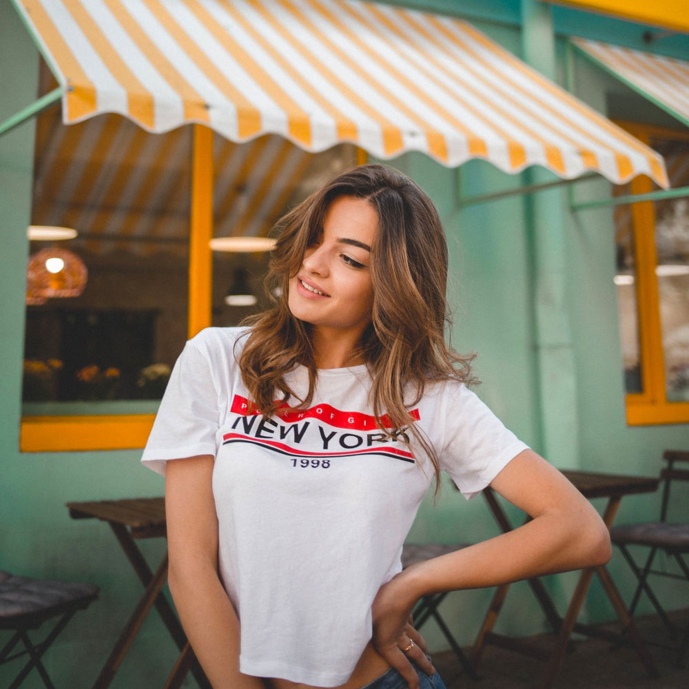 Retro t-shirt with vintage decal