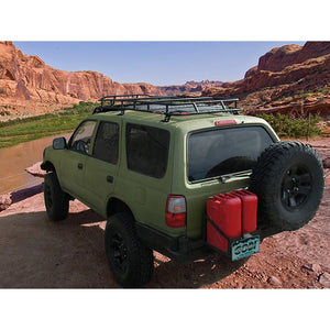Toyota 4Runner 3rd Gen baja off road offroad roof rack gobiracks gobirack gobi stealth ranger light bar multi light setup wind deflector