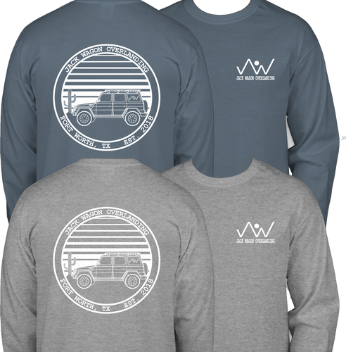 Jack Wagon Overlanding T Shirt Changing Skies Sports Grey Indigo Gildan