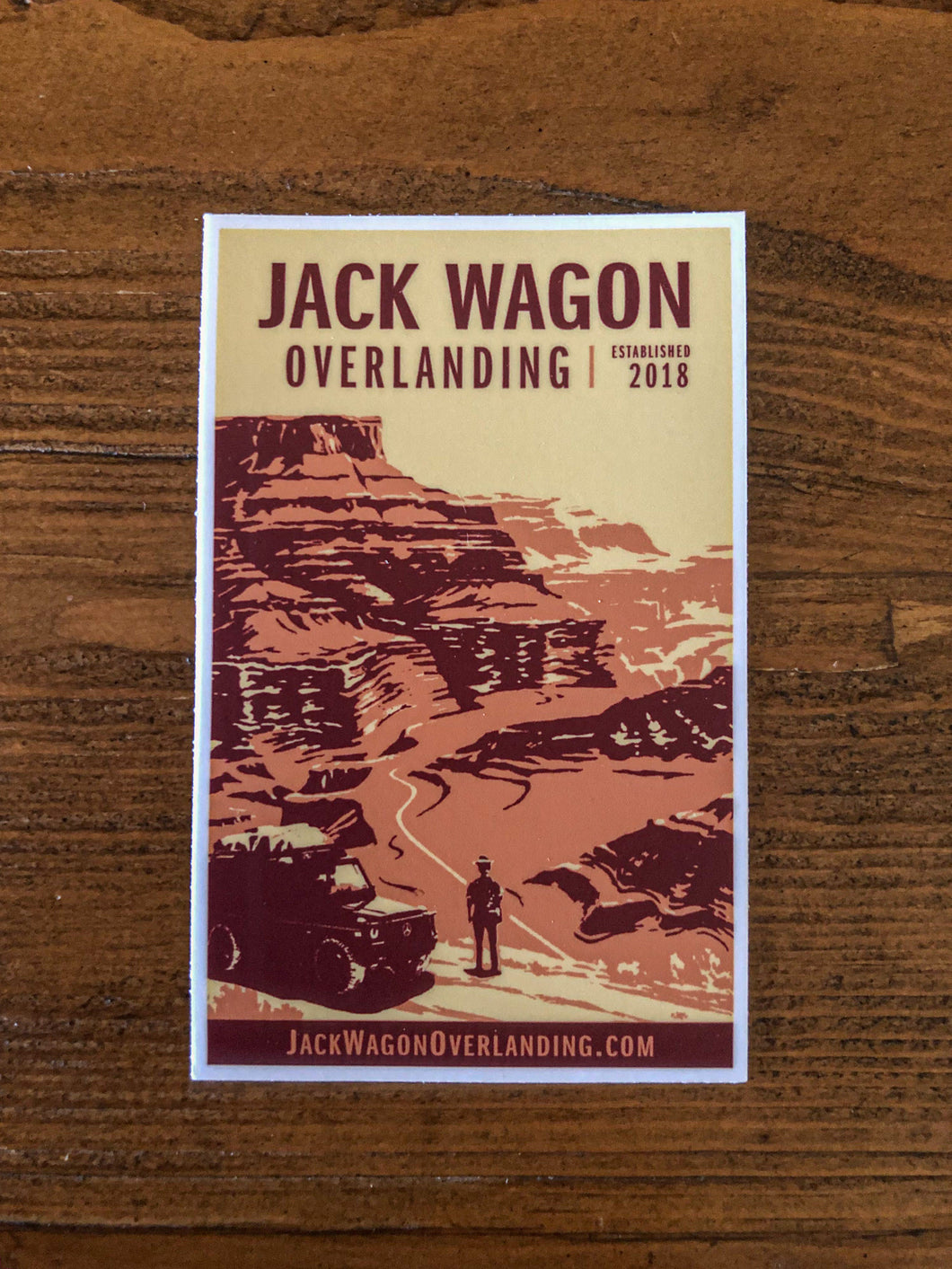 JWO Jack Wagon Overlanding Canyonlands National Park Sticker Vinyl Decal