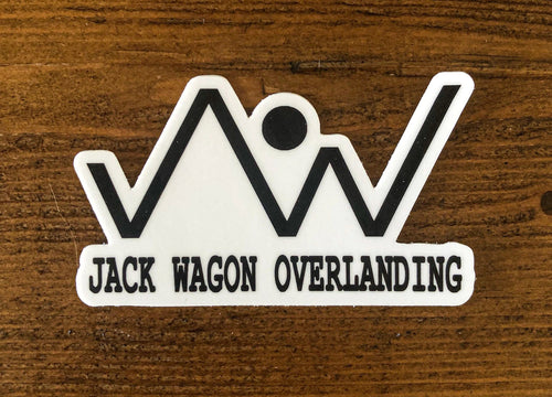 vinyl decal sticker mercedes g wagon Jack Wagon Overlanding Mountain logo