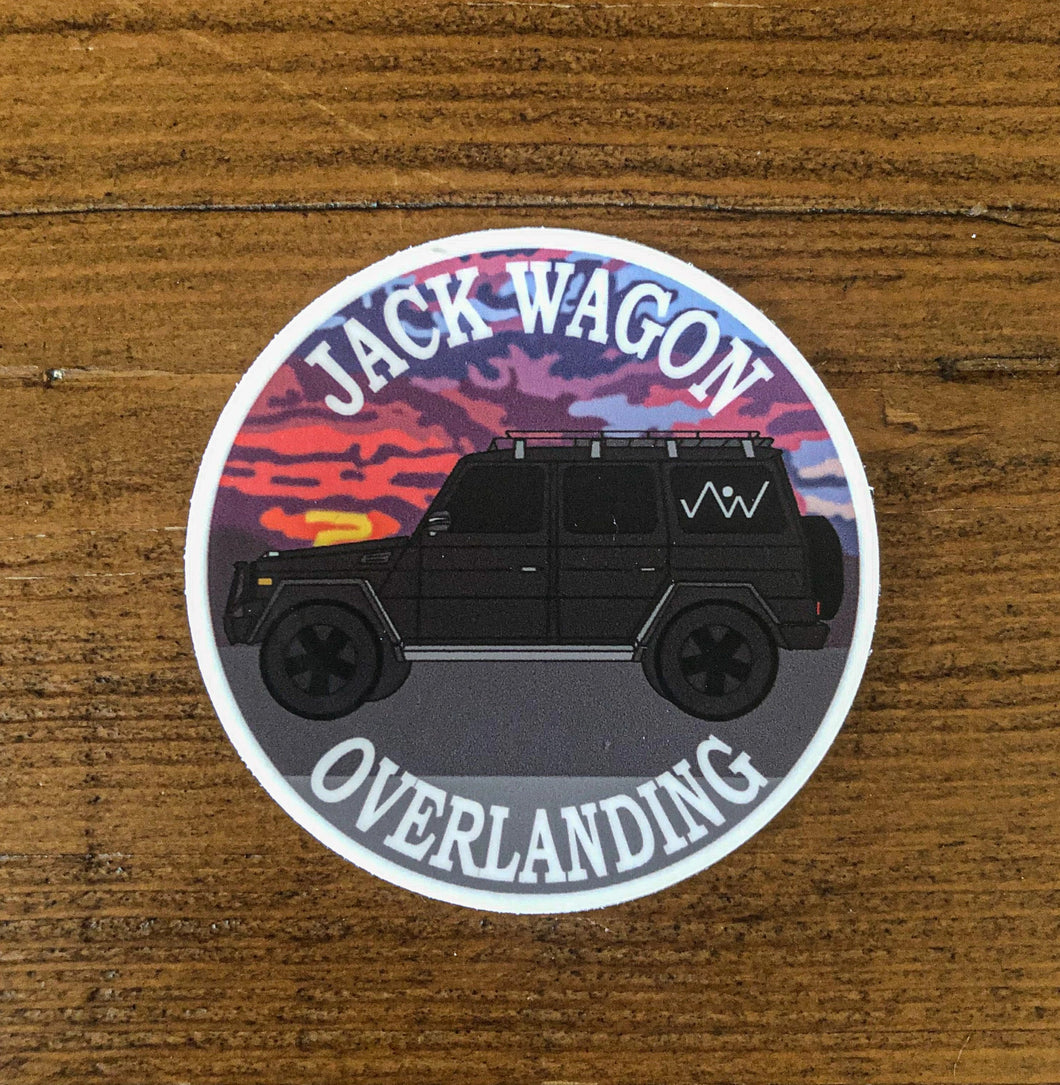 vinyl decal sticker Jack Wagon Overlanding JWO Sunset Truck SUV Car