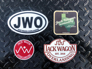 Jack Wagon Overlanding National Park Initials Abbreviation Sticker Texas Parks and Wild Life Sticker Red Logo Patch Sticker King Ranch Edition Sticker