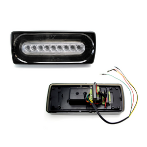 G Wagon Tail Light Rear Turn Signal LED ijdmtoy Laser Style Sequential Blink Smoked and Clear