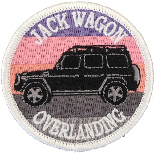 Jack Wagon Overlanding patch embroidered sew on stitching sunset g wagon g wagen g500 g55 g550 g63