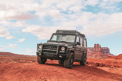g wagon roof rack blacked out mercedes benz g wagon gobi racks stealth roof rack
