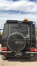 mercedes g wagon rear ladder by gobi racks with roof rack in desert