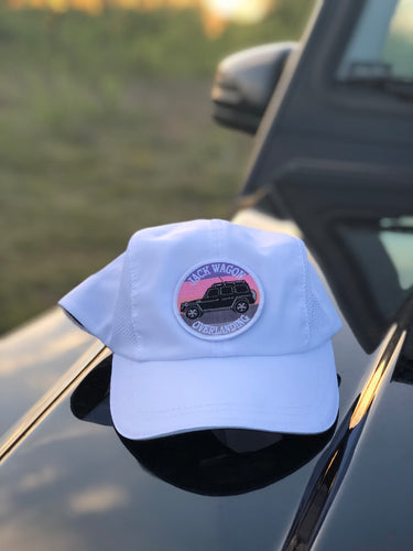 Jack Wagon Ovleranding Summer Spring Fall Running Golf Hat white reflector velcro patch sunset g wagon jacwagn Dallas