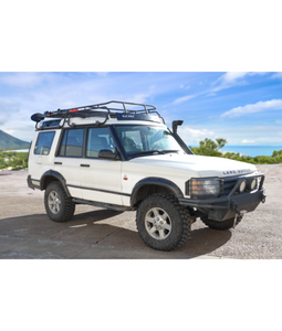 Land Rover LANDROVER DISCO Discovery II 2 baja off road offroad roof rack gobiracks gobirack gobi stealth ranger light bar multi light setup wind deflector