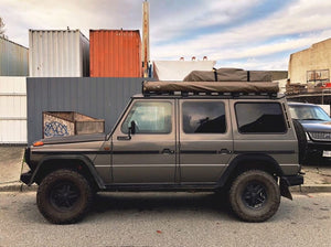 mercedes benz g wagon roof top tent by front runner