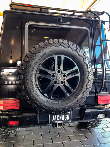 mercedes benz g wagon reverse spare tire flip mount for off road tires