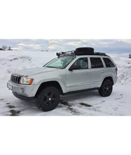 jeep grand cherokee WK baja off road offroad roof rack gobiracks gobirack gobi stealth ranger light bar multi light setup wind deflector