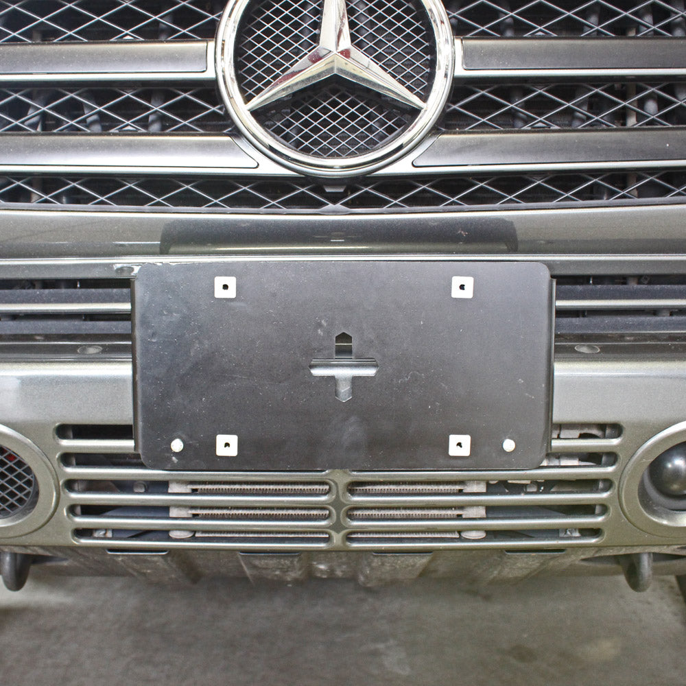 g wagon front license plate clip on mount