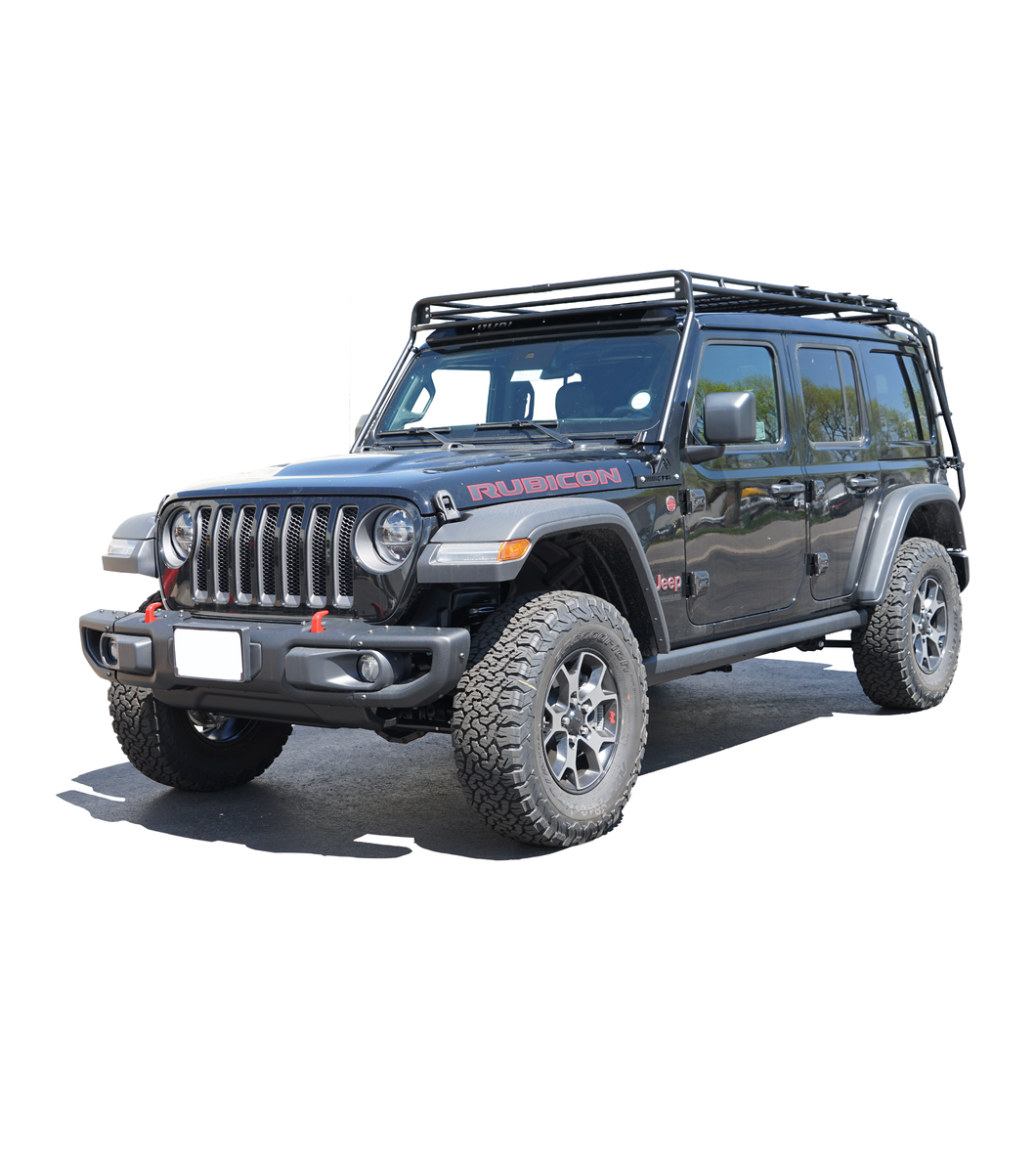 jeep jlu jl 4door gobi roof rack rush process quicker faster sooner sky one touch